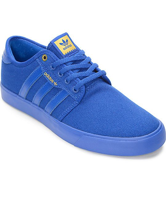 separation shoes 4baae 7390d adidas® Seeley Mono Royal Blue Shoes