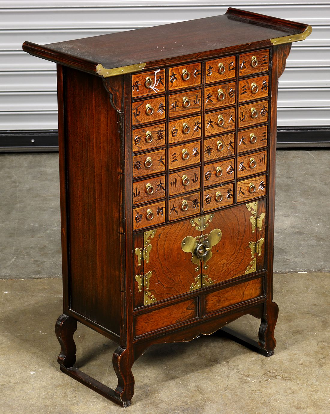 Korean Wooden Apothecary Cabinet 32 H Clars Auction Gallery