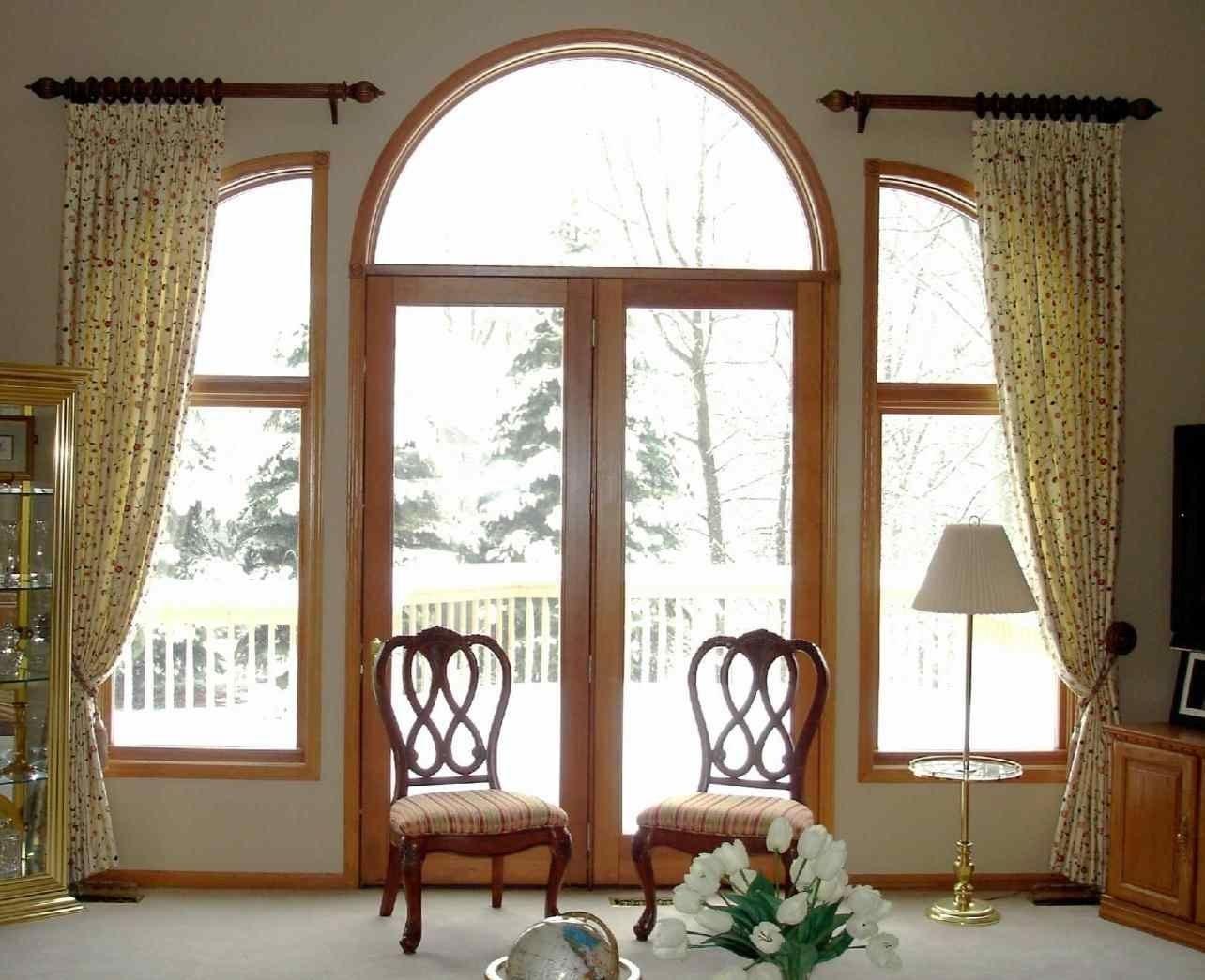 Quarter Round Window Treatments Answerplane Com Arched Window Treatments Arched Entry Doors Front Doors With Windows
