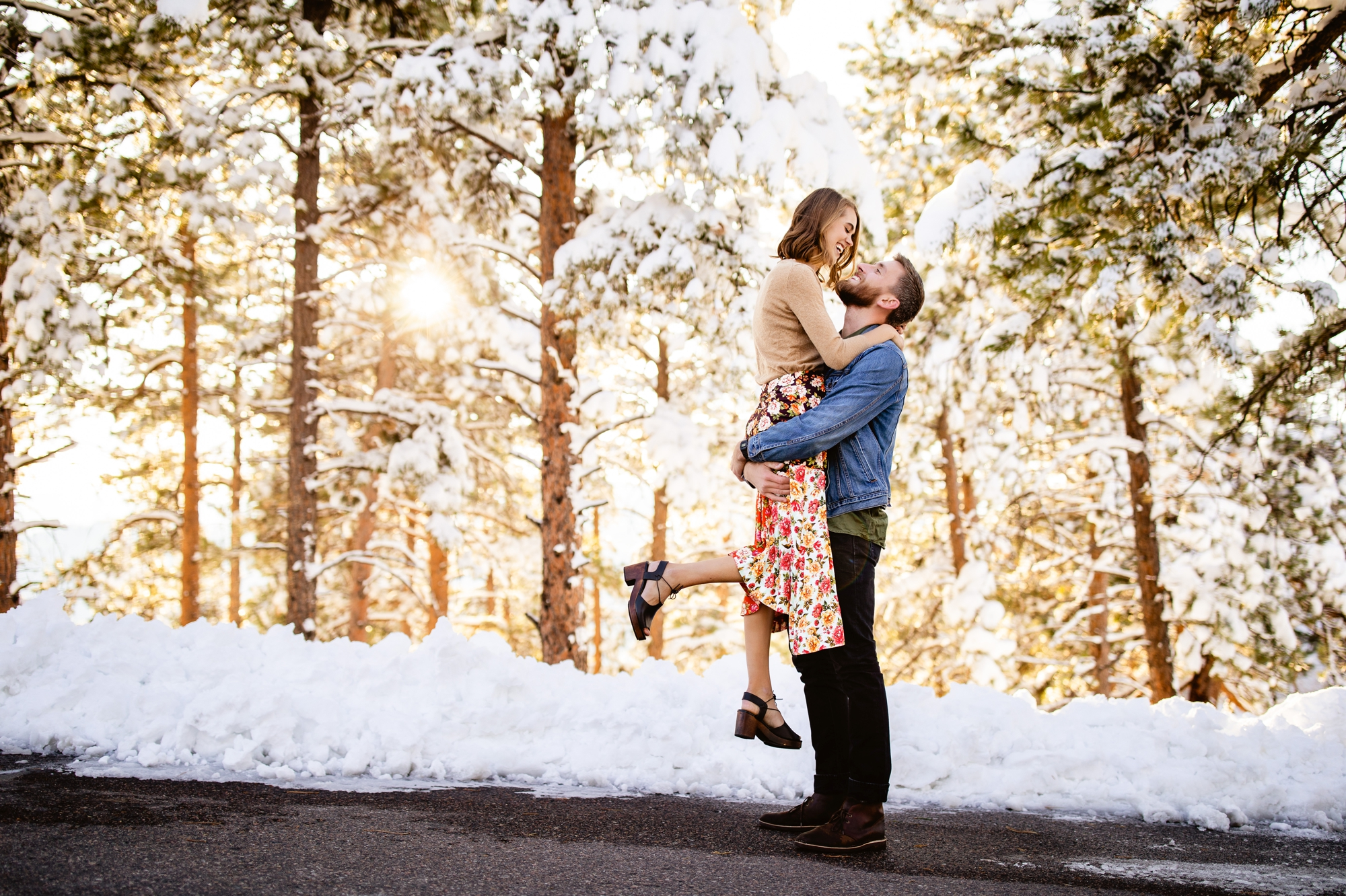 Snow Day Engagement Portraits | Mount Falcon West Trailhead Engagement | Taylor Nicole Photography -  Mount Falcon Engagement Photos, Morrison Colorado Engagement Photographer, Indian Hills Colorado En - #Day #Engagement #EngagementPhotosclassy #EngagementPhotosindian #EngagementPhotoswoods #Falcon #formalEngagementPhotos #Mount #naturalEngagementPhotos #Nicole #Photography #plussizeEngagementPhotos #Portraits #rusticEngagementPhotos #Snow #Taylor #Trailhead #west #whattowearforEngagementPhotos