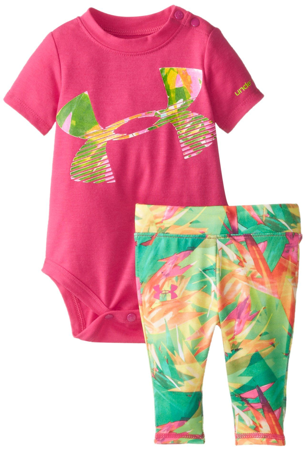 Under Armour Baby Girls  Blurred Stripe Capri