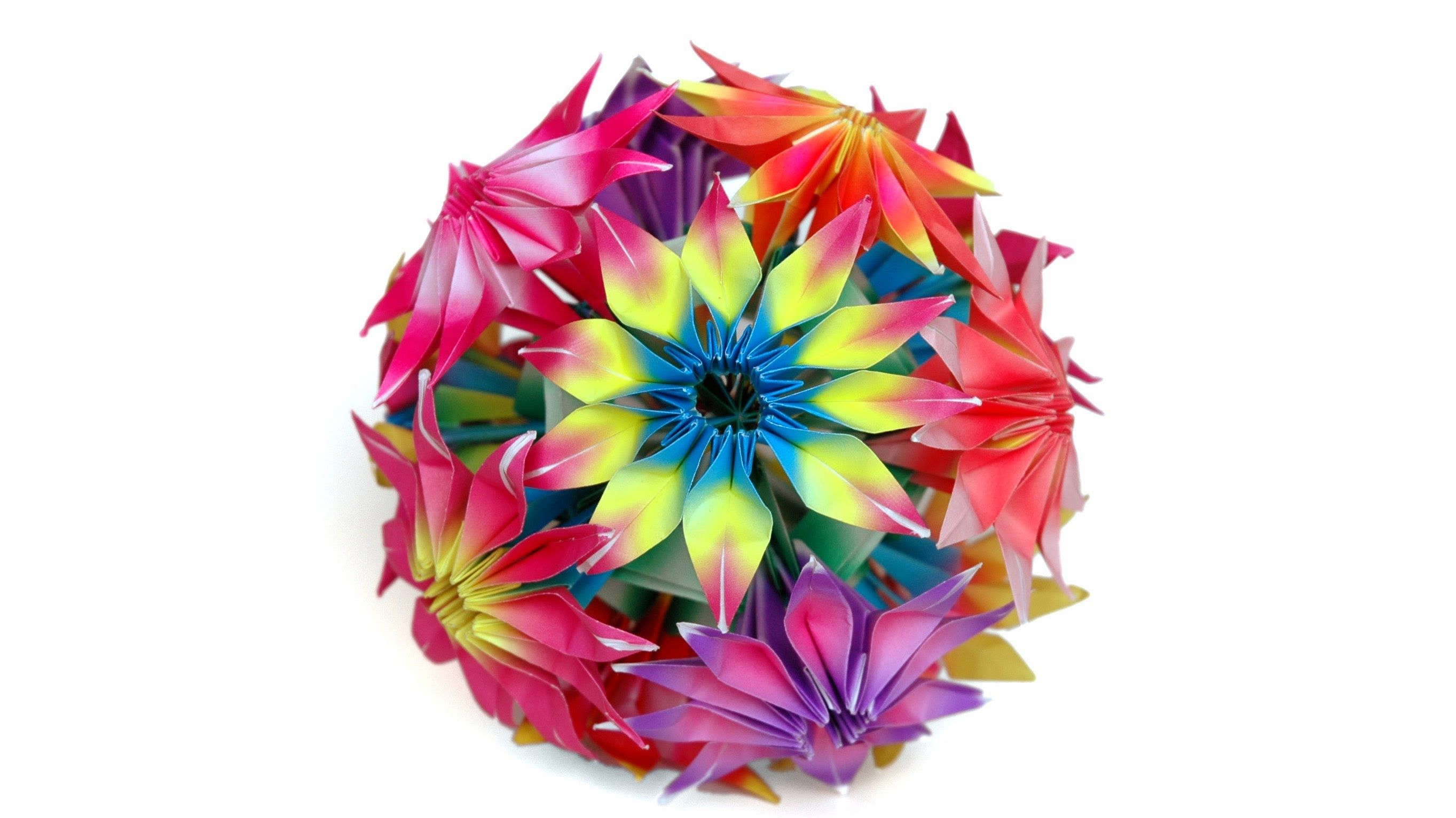 How To Make Origami Gloriosa Flowers And Kusudama Origami