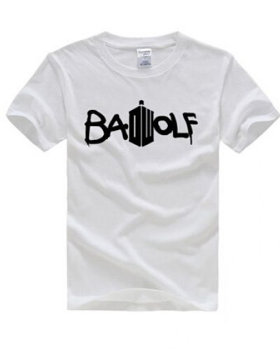 Doctor Who Bad wolf t shirt for men cheap Tardis tshirt -