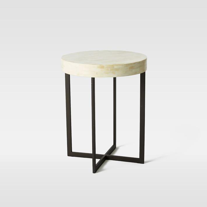 Bone Side Table Ivory Side Table Coffee Table Modern Side Table