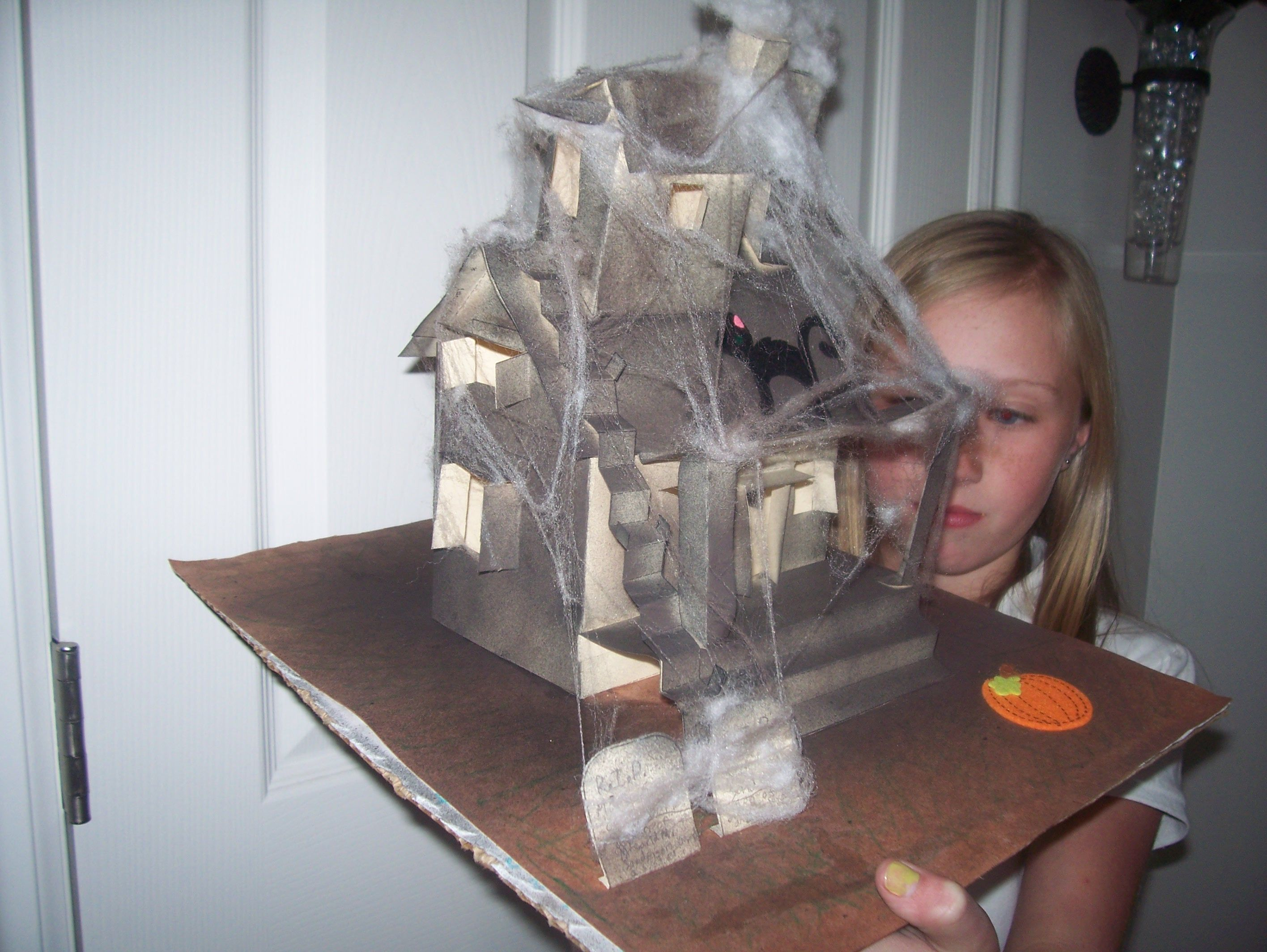 Lighted Haunted House with electrical circuit made with Christmas ...