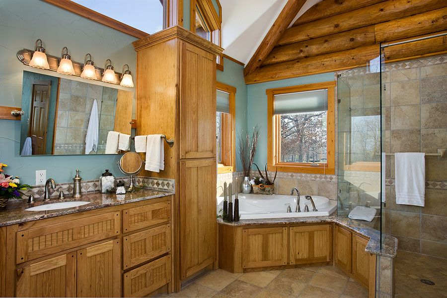 Bathroom Ideas Log Homes log home photos | poplar bluff home tour › expedition log homes