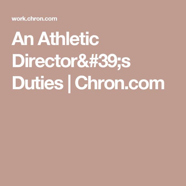 an athletic director u0026 39 s duties