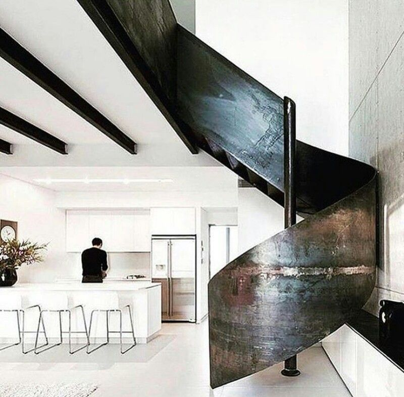 Modern Interior Staircase Materials Photo: Pin By Valerie Kilpatrick On Stairs * Lift * Elevator