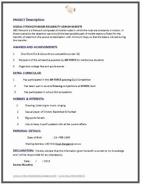 25 best computer science resume in 2020  resume format