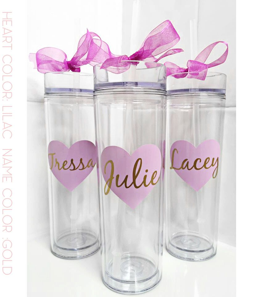 Custom skinny tumblers, personalized cups, bridal shower gift ...