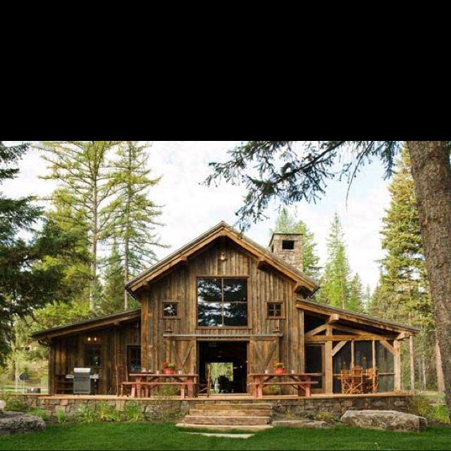 Barn idea ~ Love the casual style of this barn with the picnic