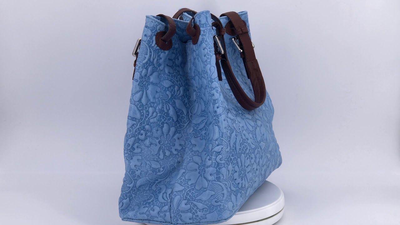 Leder Handtasche Mit Floraler Pragung In 2020 Taschen Handtaschen Leder