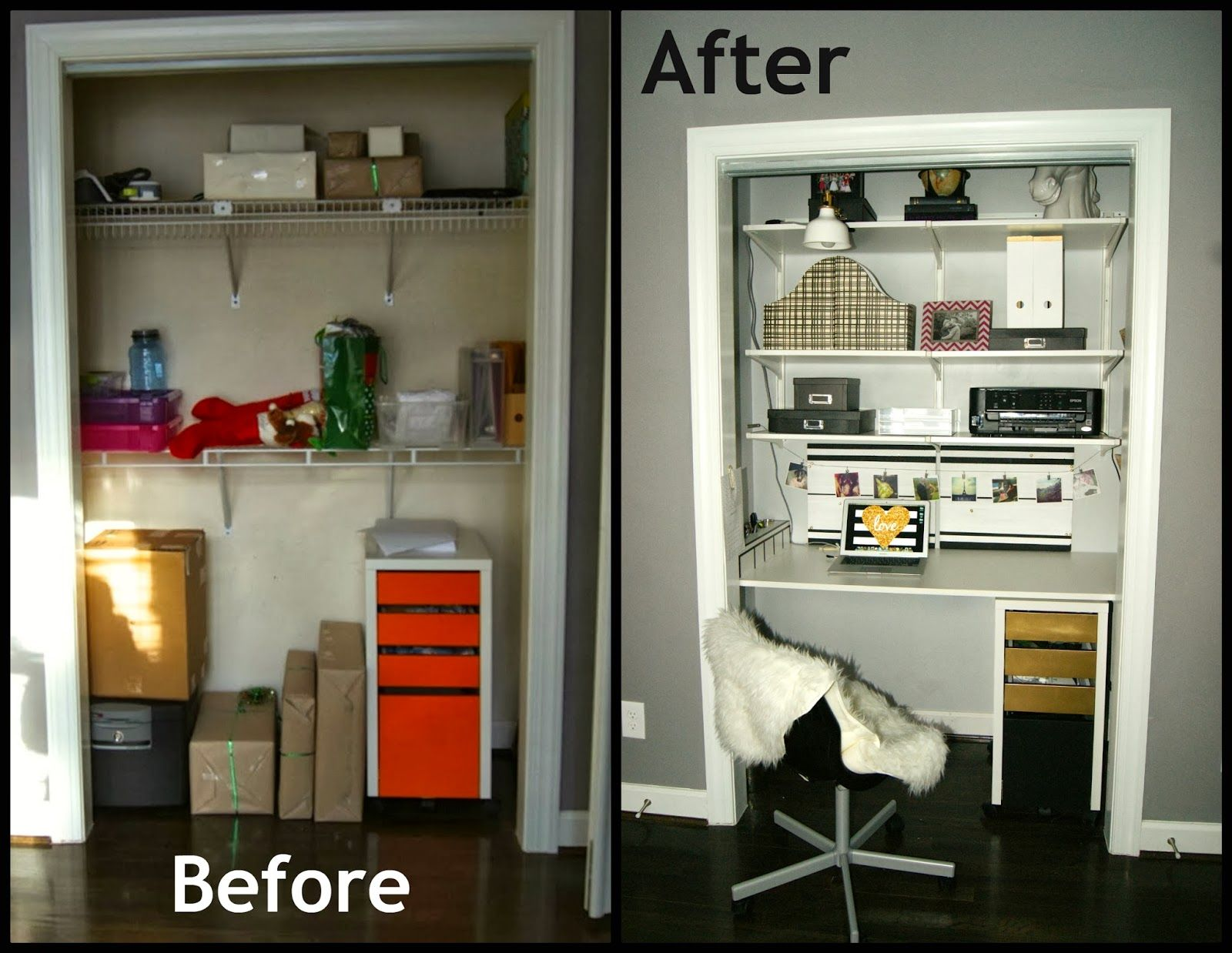 Super Cute Closet Desk! With A How To And Step By Step Updates!