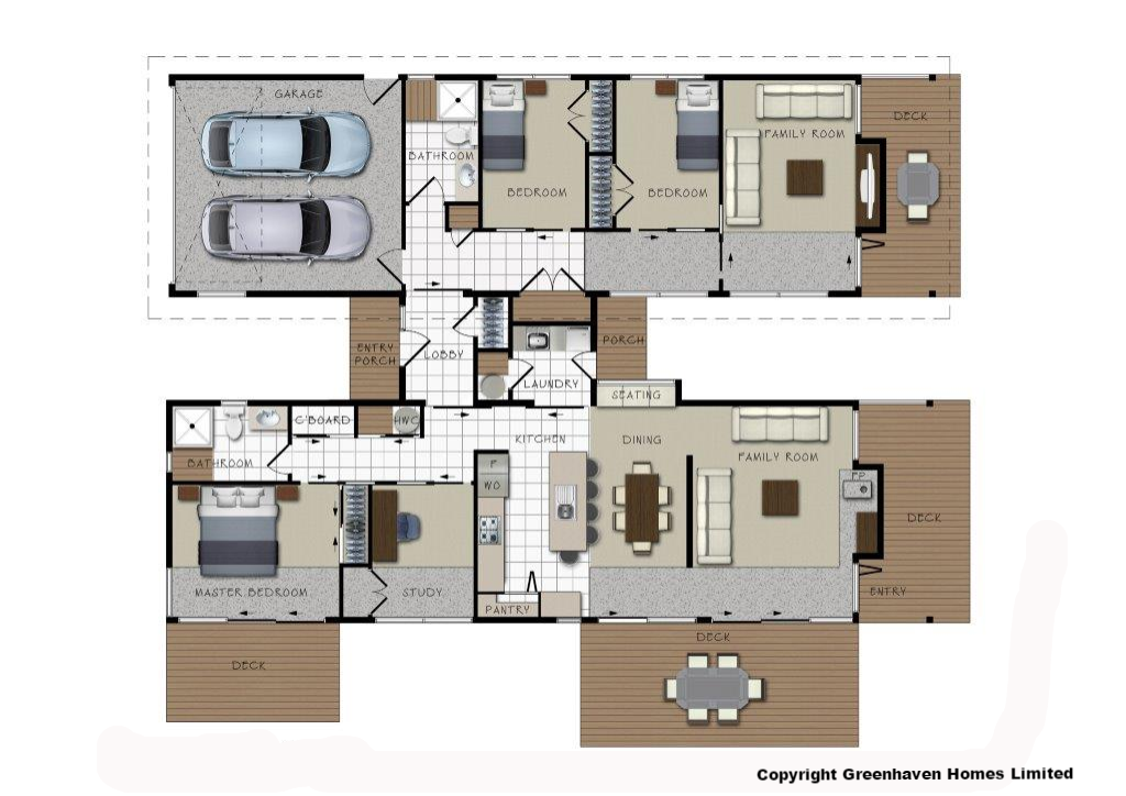 Scintillating Three Bedroom House Plans Nz Gallery - Ideas house ...