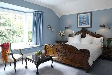 French Country Bedroom Blue Google Search SMALL COURTYARD - French blue bedroom design