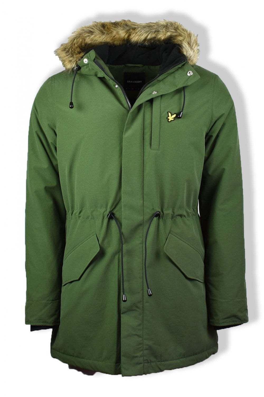 edf13f5d8e2 196.30 | Lyle & Scott Winter Weight Microfleece Parka Jacket ...