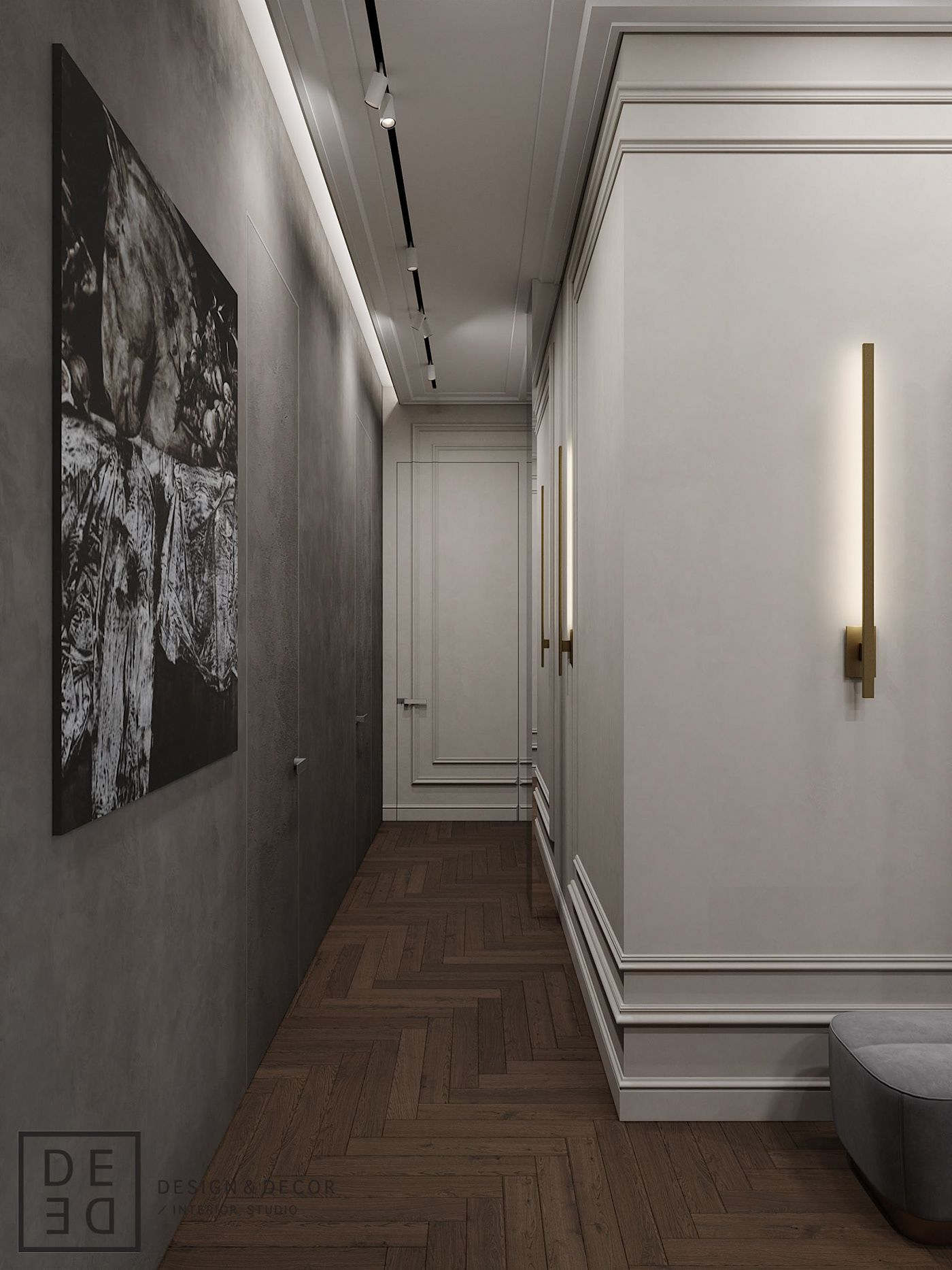 DE&DE/Fusion apartment on Behance | Corridor design