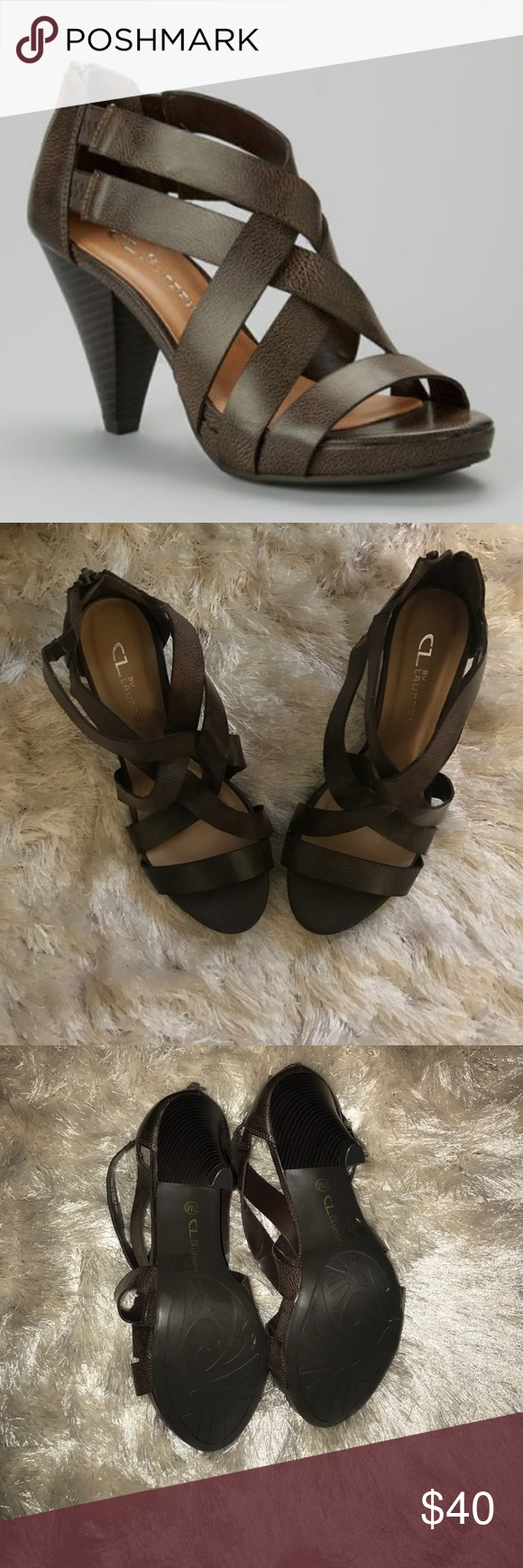 CL by Laundry dark brown sandals sz 7.5 Cute and comfy sandals! Chinese Laundry Shoes Sandals