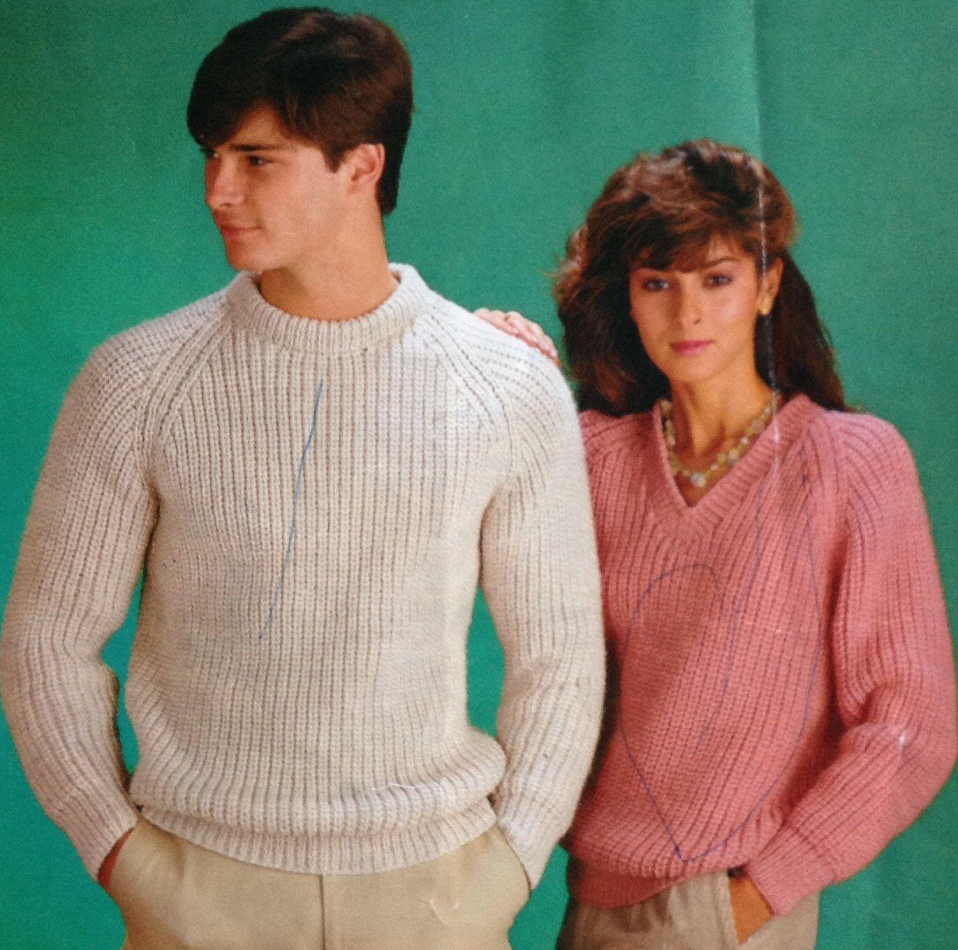knitting pattern ladieswomensmens jumpersweater