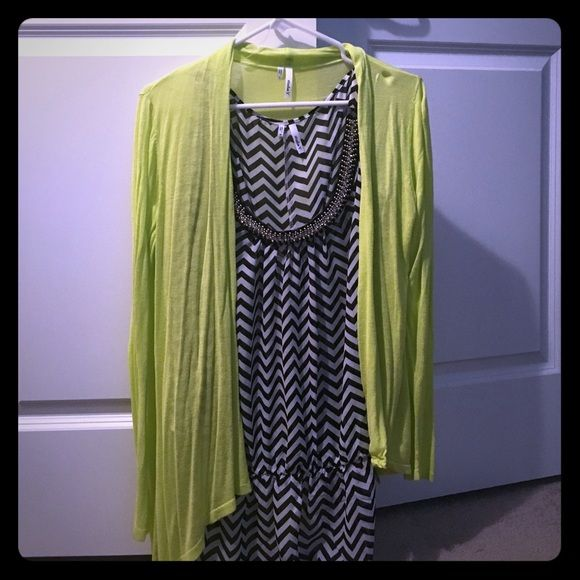Studio Y chevron open arm blouse, black and white Tapered waist and bedazzled neckline. Great for date night or a day at the office. Match with a cute cardigan or wear alone. Worn once. Beautiful blouse! (Cardigan sold separately - see closet) Studio Y Tops Blouses
