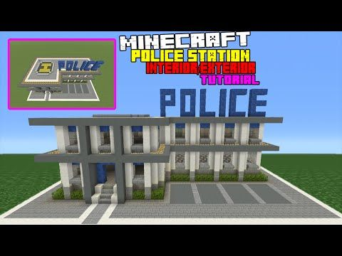 Minecraft Tutorial: How To Make A Police Station Interior