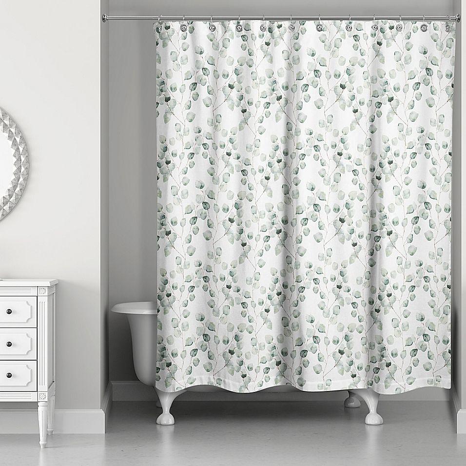 Direct Designs Eucalyptus Shower Curtain In Green Green Shower