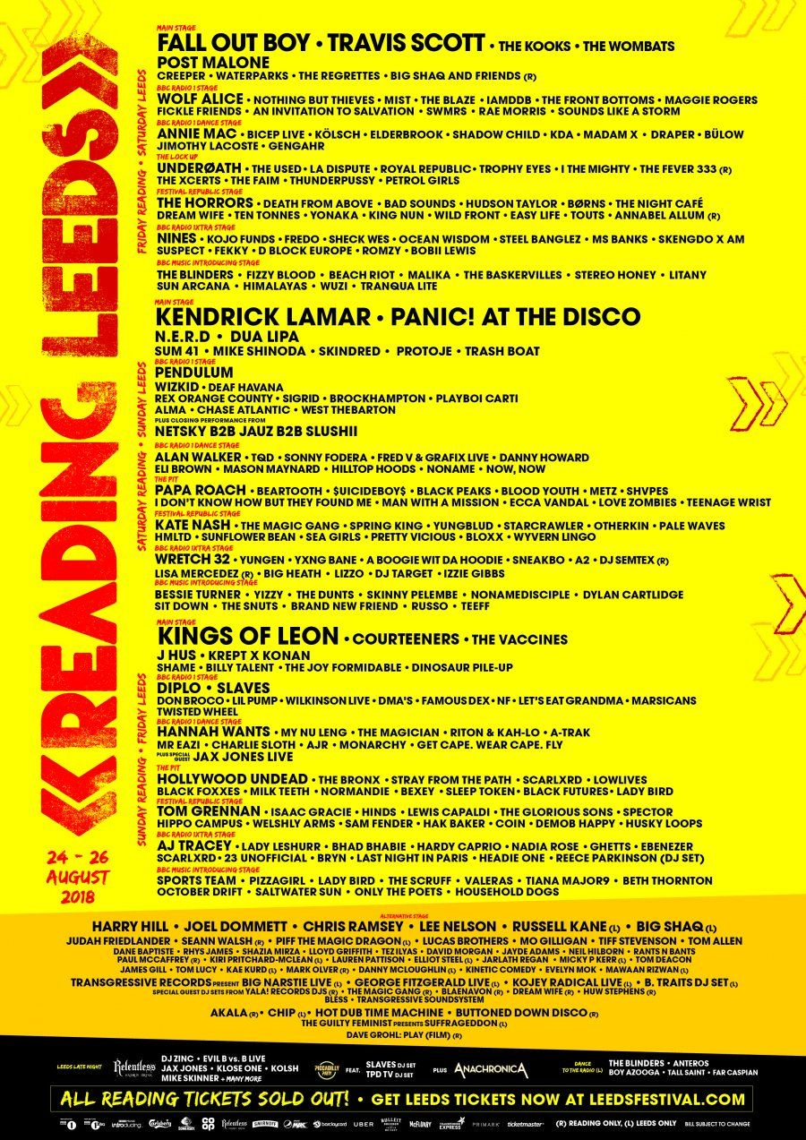 2018 line up The kooks, Fickle friends, Nothing but thieves