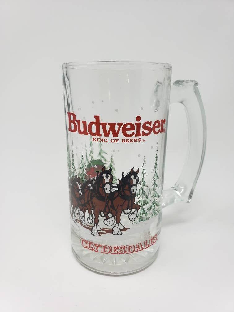Anheuser Busch 2020 Christmas Stein 1989 Budweiser Beer Clydesdales Christmas Mug, Stein, Glass