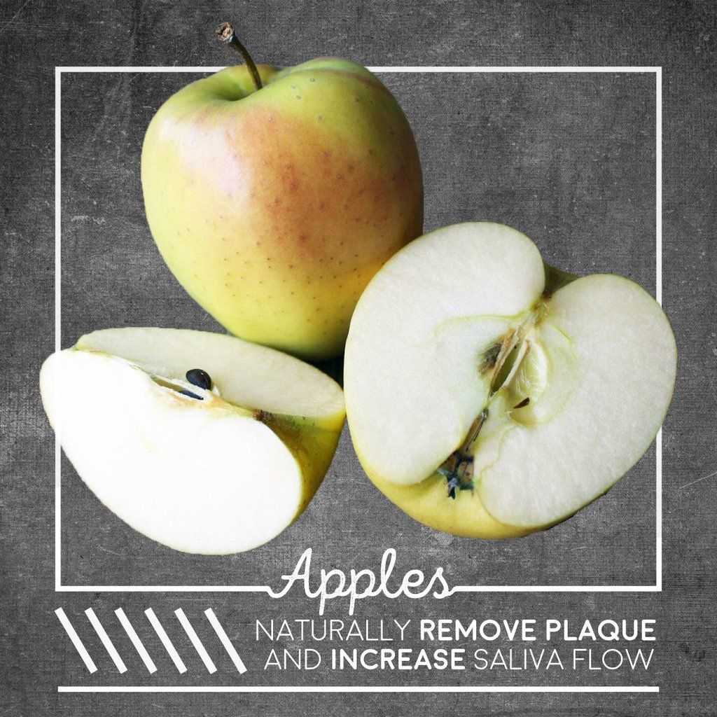 APPLES (with peel) really do help clean teeth! Remember to