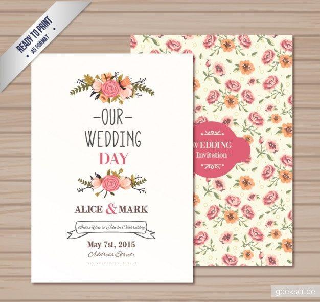 Свадебное приглашение   Шаблоны   Yagiro - сайт о дизайне и для - best of invitation template free