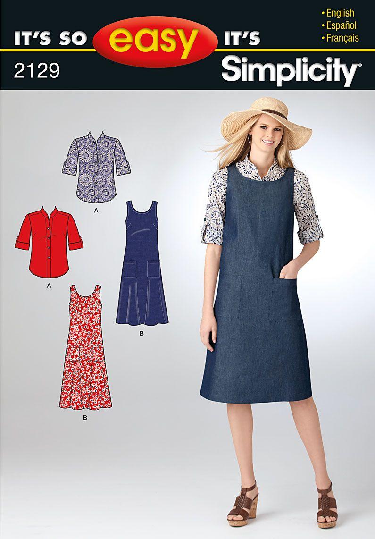 Simplicity : 2129   Patrons de couture   Pinterest   Patrones de ...
