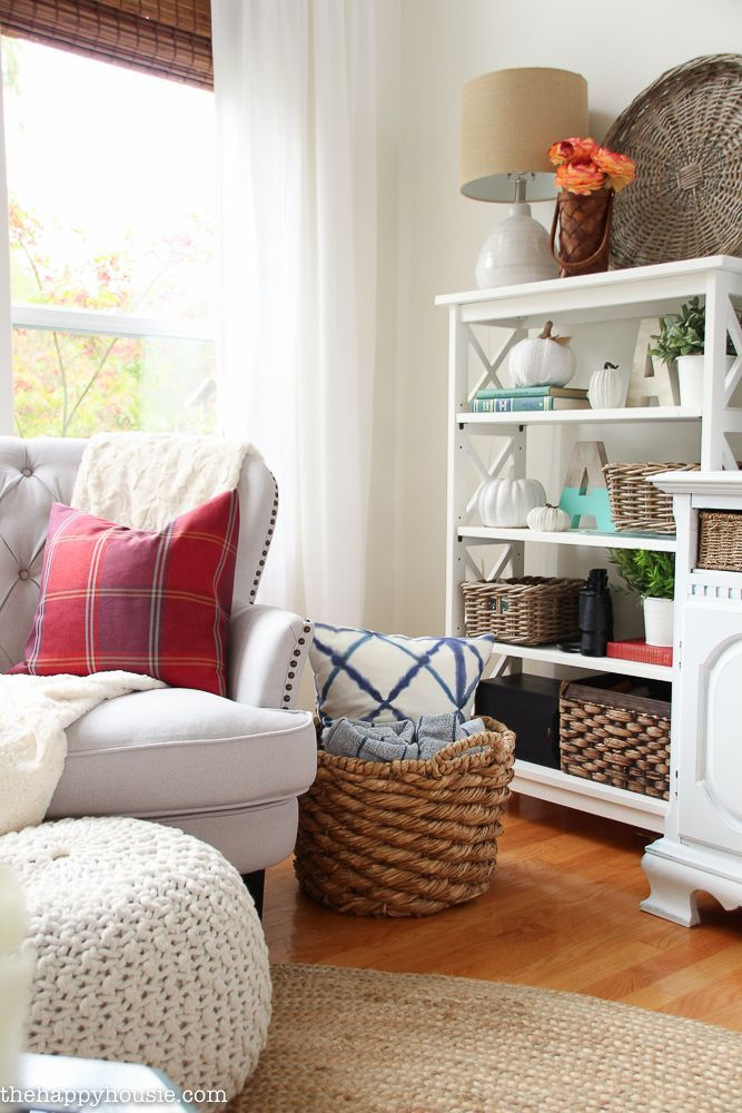 Bright  Airy Lake House Fall Home Tour {Part 1 Bright, Lights and