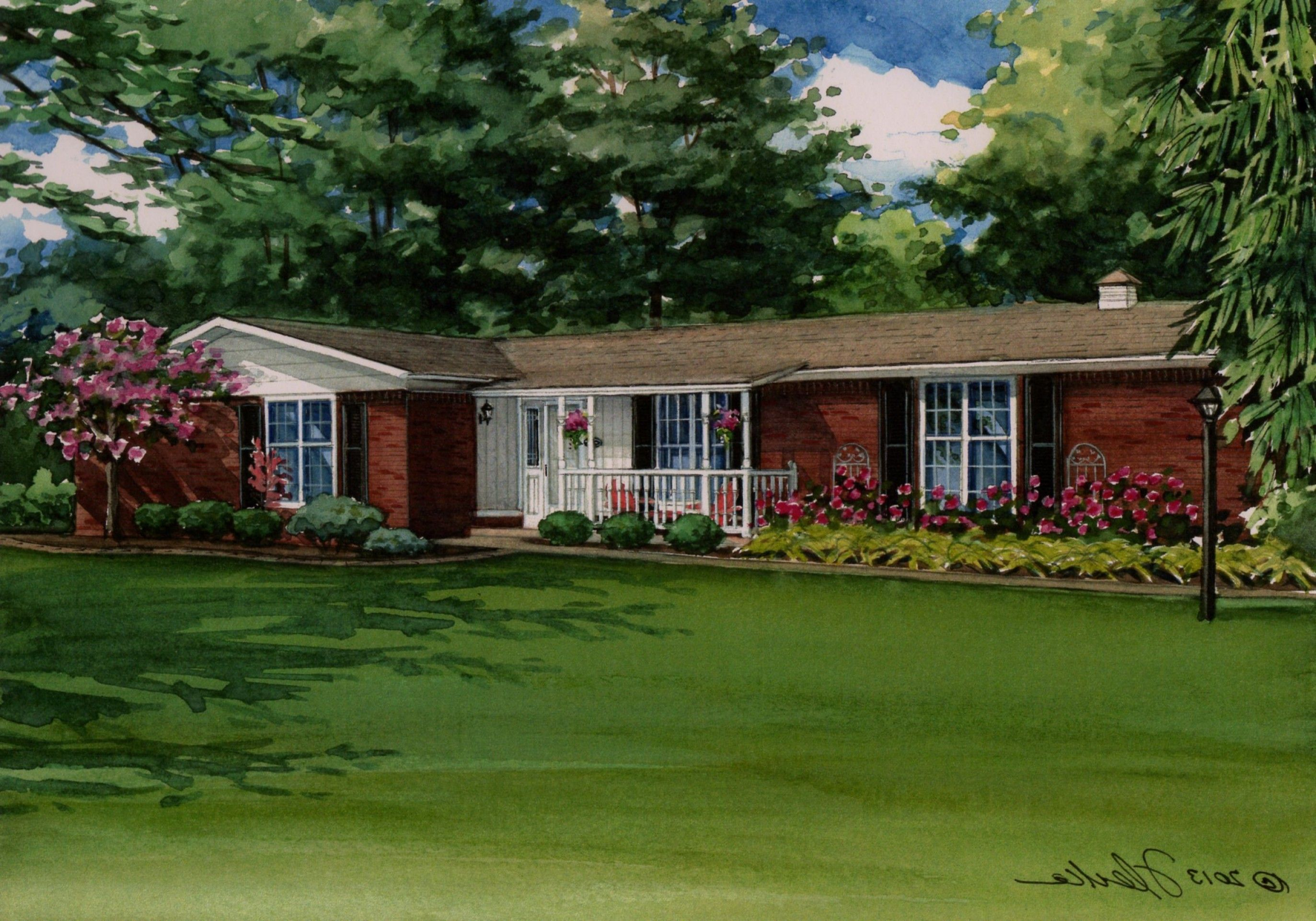 Image Result For Red Brick Ranch Ranch House Landscaping House Landscape Brick Ranch Houses