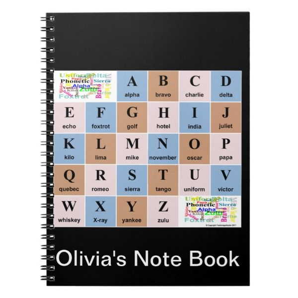 phonetic alphabet notebook custom office retirement office