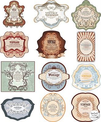 Vintage Stickers Vector Vintage Labels Vintage Labels