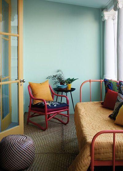 Décoration intérieur peinture  marier les couleurs Le rotin - Peindre Fenetre Bois Interieur