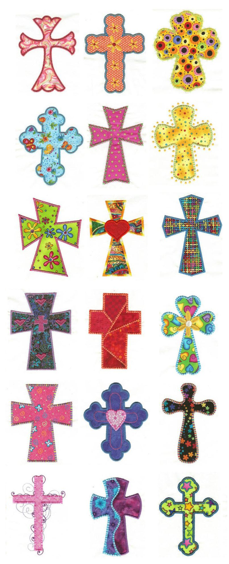 Crosses Applique Design Set Is Available For Instant Download At Www