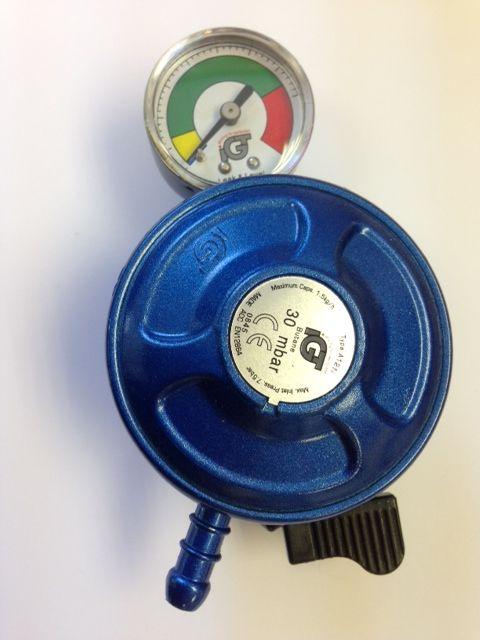 Igt Butane 21mm Clip On Regulator With Level Gauge Regulators Caravan Equipment Butane