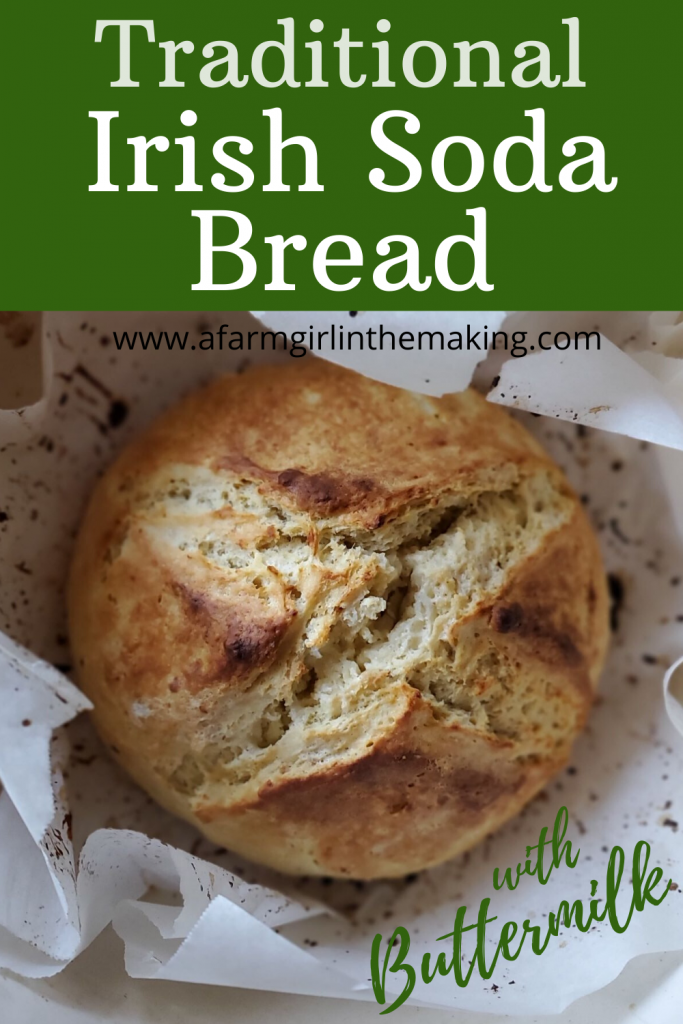 Traditional Irish Soda Bread No Yeast Bread A Farm Girl In The Making Recipe In 2020 Irish Soda Bread Traditional Irish Soda Bread Soda Bread