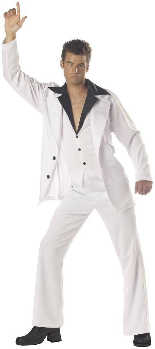 Mens 60s 70s 80s Suit Disco Saturday Night Fever Fancy Dress Costume Outfits