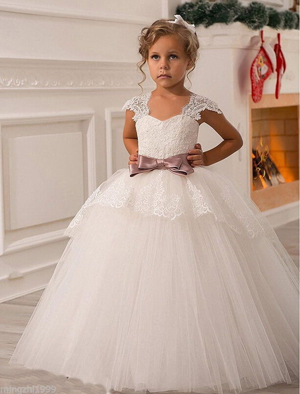 Amazon.com: HTYS Baby Princess Bridesmaid Flower Girls Dresses Wedding Prom Gown HY065: Clothing