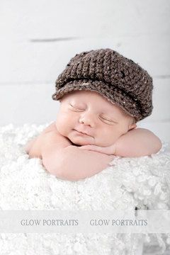 Crochet newsboy driver hat photography prop newborn baby child ... 77e76d9d0bf