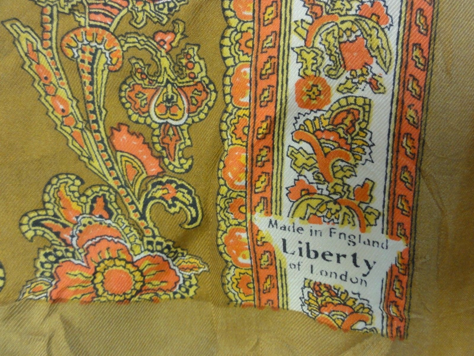 "SILK SCARF Liberty of London ~ ENGLAND 22"" Square Vintage ..."