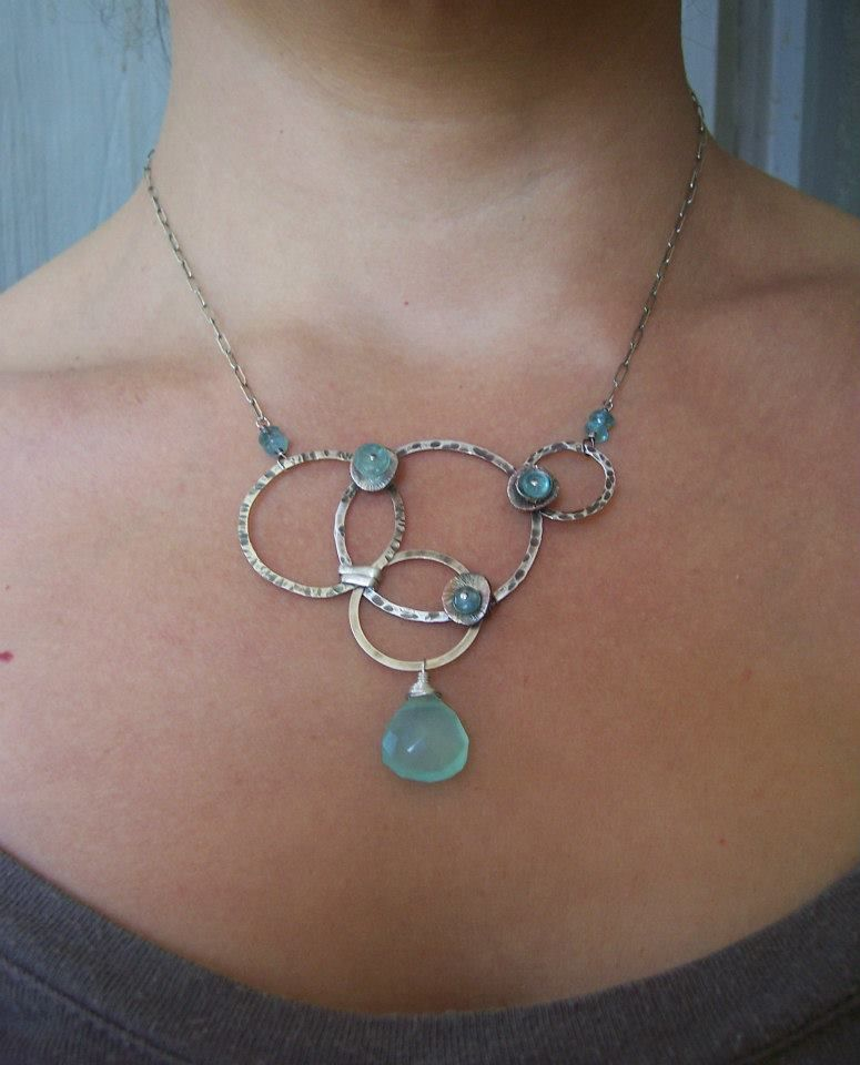 Roundabout Apae Chalcedony With Sterling Silver Dna