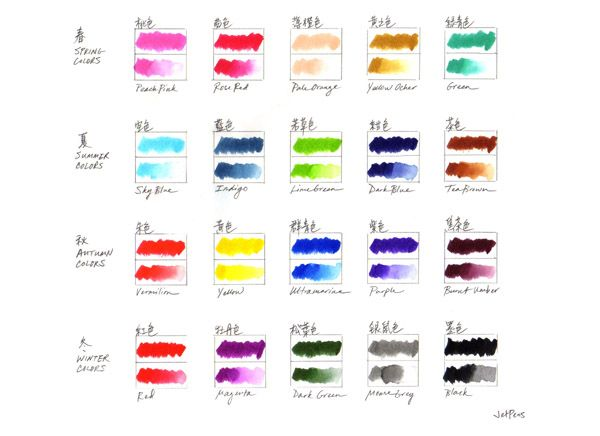 Akashiya Sai Watercolor Brush Pen 20 Color Set Jetpens Com