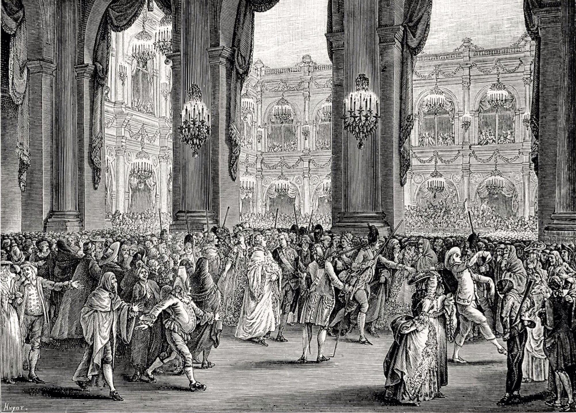 Luis Xvi Y María Antonieta En Un Baile De Máscaras En La ópera De París Grabado De Jean Michel Moreau Old Paris French History Old Things