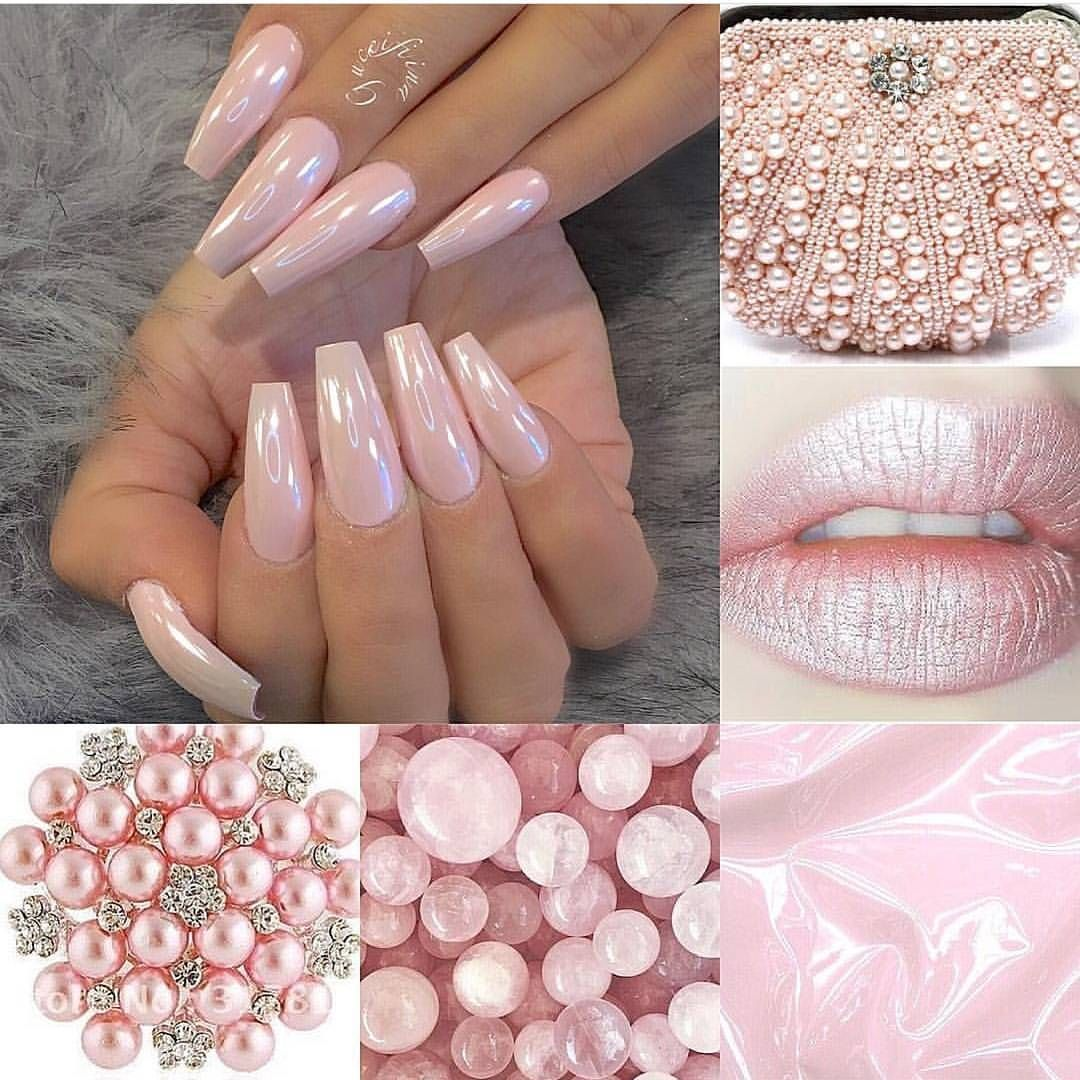 """dailycharme on Instagram: """"Gorgeous pearly pink chrome nails by @fiina_naillounge � Create this look using our Magic White Chrome Powder over a pink base color, shop…"""""""