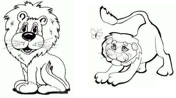 Desenho Leao Colorir Com Imagens Animais Para Colorir Colorir