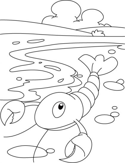 Little lobster coloring pages | 1gamba | Pinterest | Colores ...