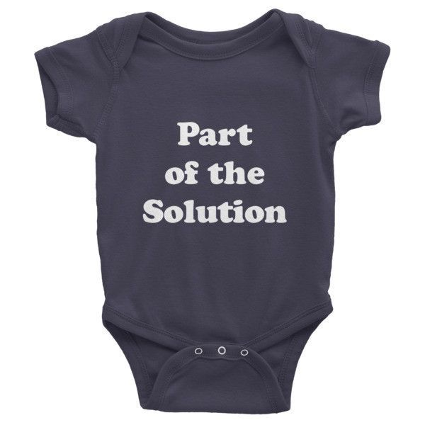 Part of the Solution (White) Infant short sleeve one-piece